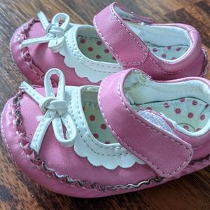 Genuine Kids pink & white Mary Jane style shoes